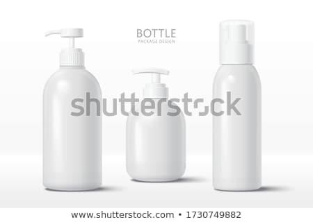 shampoo · fles · witte · achtergronden · lichaam · ontwerp · schoonheid - stockfoto © homydesign