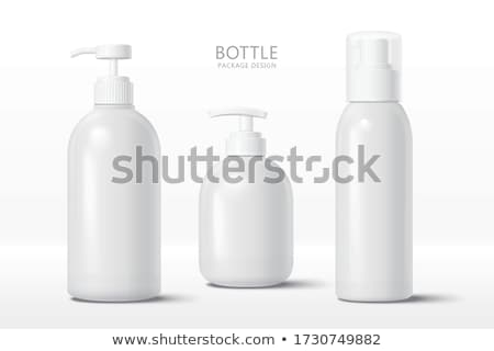 Fehér sampon üveg izolált test haj Stock fotó © homydesign