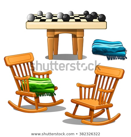 Rocking Chair Vector. Retro Furniture. Comfortable Home Wooden Chair. Isolated Cartoon Illustration Stock photo © pikepicture