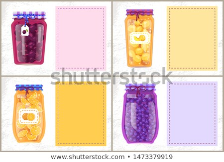 Preserved Foodstuff with Natural Products Poster Stock photo © robuart