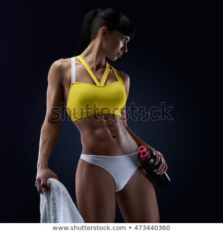 Vrouwelijke torso buik fitness dieet Stockfoto © dolgachov