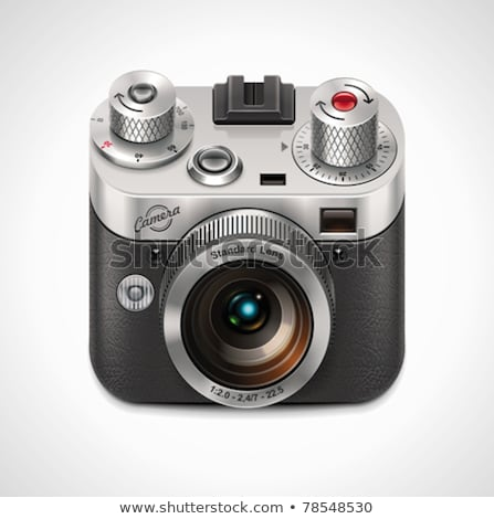 Stock photo: Vector SLR camera XXL icon