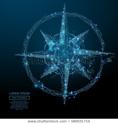 Boussole blanche cohérence magnétique aiguille pointant Photo stock © make