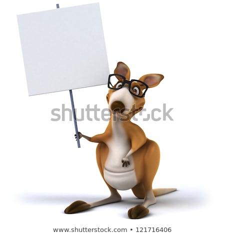 漫画 カンガルー にログイン 実例 白 動物 ストックフォト © cthoman