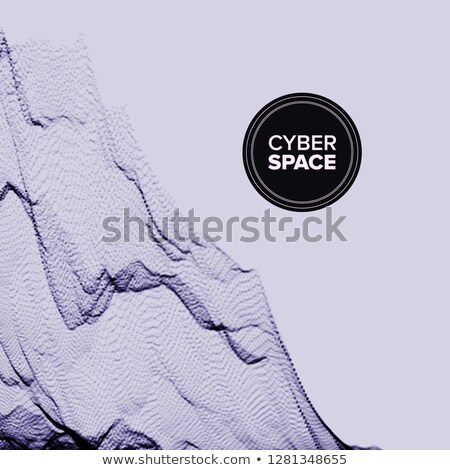 Technology Abstract Background Vector. Chaotic Curve. Motion Stream. 3D Grid. Cover. Illustration Stock photo © pikepicture