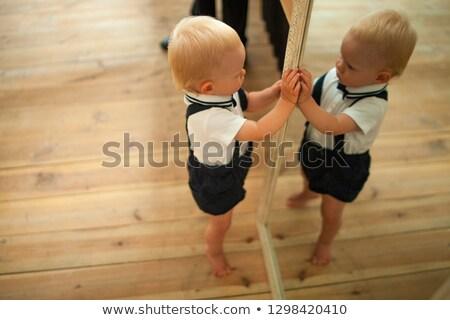 ребенка мальчика зеркало отражение ребенка фон Сток-фото © Stasia04