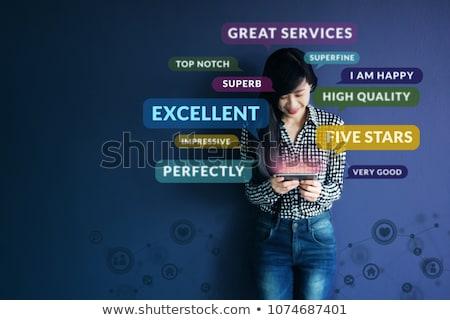 顧客 経験 文字 現代 ノートパソコン 画面 ストックフォト © Mazirama