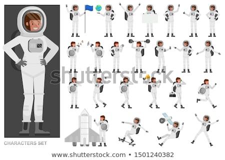 Ayarlamak stil kişi insan astronot Stok fotoğraf © netkov1