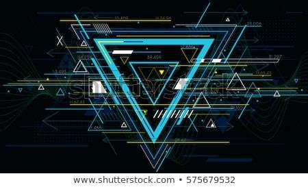 Soyut mavi kaos hat diyagram teknoloji Stok fotoğraf © SArts