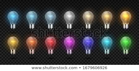 Villanykörte 3D fotó valósághű villanykörte alkotóelem Stock fotó © kup1984