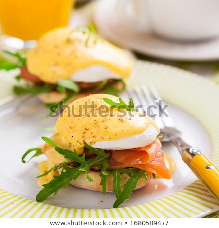 Eieren spek heerlijk ontbijt voedsel kaas Stockfoto © grafvision