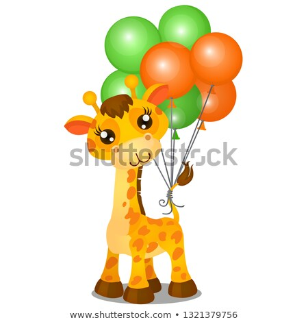 Cute jouet girafe gonflable coloré Photo stock © Lady-Luck