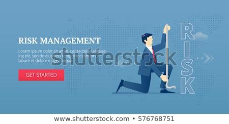 Risikomanagement Banner Kopfzeile Arbeitsgruppe Maßnahme Strategie Stock foto © RAStudio