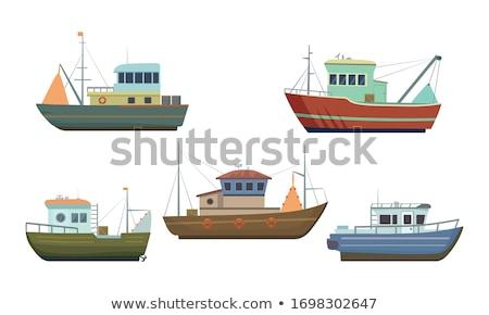 vissersboot · net · kust · oceaan · boot - stockfoto © boggy