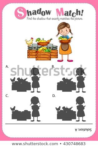Alimentare ombra accoppiamento gioco modello illustrazione Foto d'archivio © colematt