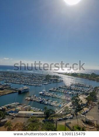 Hermosa playa panorama azul sur costa Foto stock © lovleah