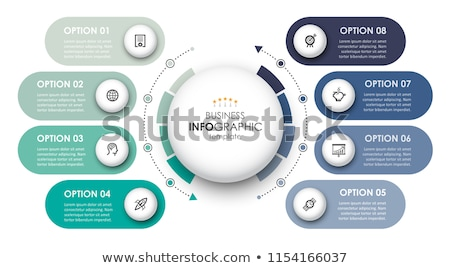 Infographic circular timeline template Stock photo © orson