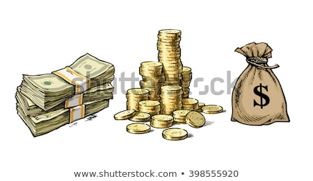 Sack with Dollar Sign Golden Coins and Paper Money Stock photo © robuart