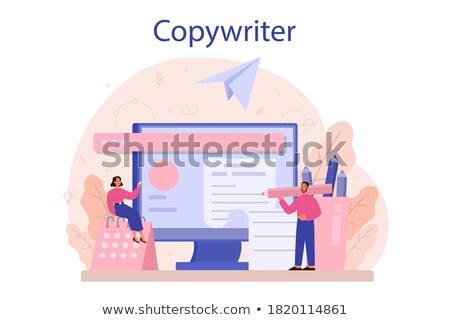 freelance · trabalhar · projeto · estilo · colorido · ilustração - foto stock © decorwithme