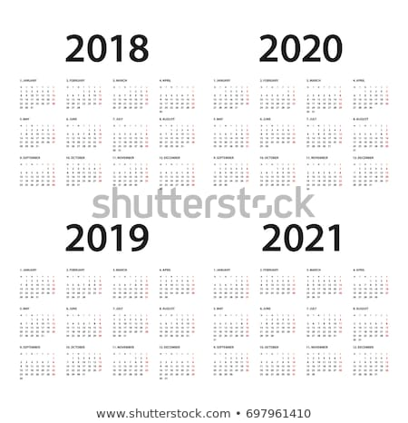 Mockup Simple calendar Layout for 2020 year. Week starts from Sunday stock photo © olehsvetiukha