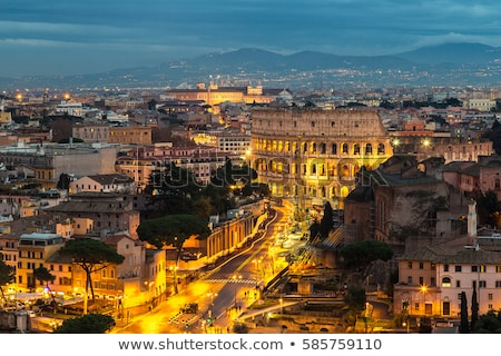 Colosseum of Rome evening panoramic view Stock photo © xbrchx