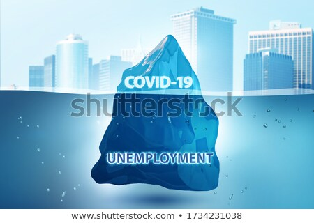 Debt and loan concept with iceberg - 3d rendering Stock photo © Elnur