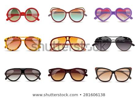 Napszemüveg szett nyár szemüveg nap elleni védelem vektor Stock fotó © Andrei_