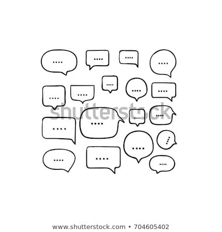 abstract · lijnen · tekstballon · ontwerp · verf - stockfoto © designleo