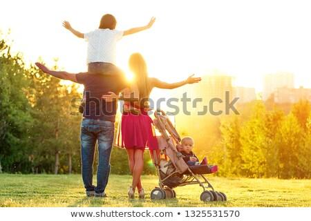 Feliz ativo família belo mãe marido Foto stock © ElenaBatkova