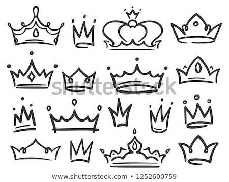 корона коллекция набор силуэта прибыль на акцию 10 Сток-фото © netkov1
