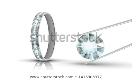 Bright Clear Brilliant Diamond In Tweezers Vector Stock photo © pikepicture