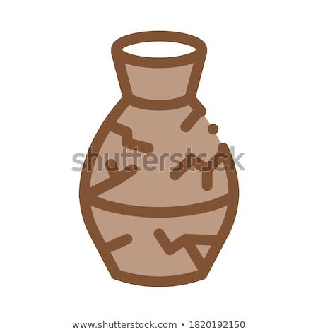 Gebroken klei item bruin oppervlak kan Stockfoto © pressmaster