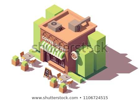 Vector isometric small coffeehouse Stock photo © tele52