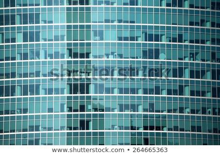 Grande edificio de oficinas panorámica vidrio ventana azul Foto stock © ConceptCafe