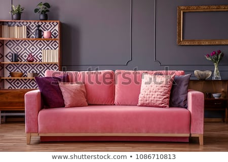 Pink couch with a pillow Stock photo © andreasberheide