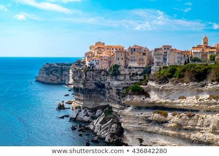 old town of Bonifacio, in Corsica, France Stock photo © nito