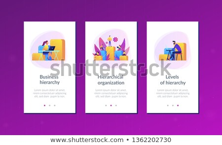 Business hierarchy app interface template. Stock photo © RAStudio