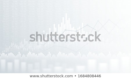 Abstract financial graph with uptrend line and bar chart of stock market on black color background.  Stock photo © kyryloff