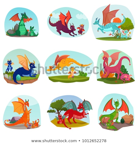 Mythisch mascotte collectie icon illustratie Stockfoto © patrimonio