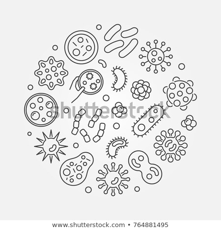 Danger Bacillus Bacteria Vector Thin Line Icon Stock photo © pikepicture