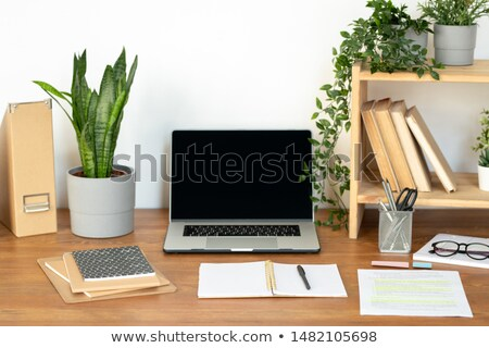 Supplies and equipment for business or educational purposes on wooden desk Stock photo © pressmaster