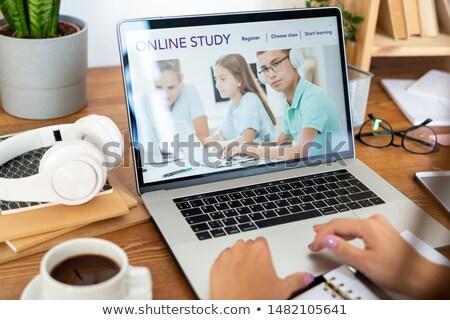 Stockfoto: Laptop · homepage · onderwijs · website · display · gebruikt