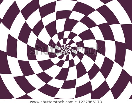 Checkered Spiral Hypnosis Background Illustration Stock photo © lenm