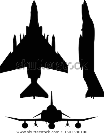 F-4 Phantom II Military Fighter Jet Aircraft Silhouette Vector Illustration Stock photo © jeff_hobrath