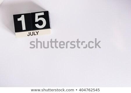 Cubes calendar 15th July Stock photo © Oakozhan
