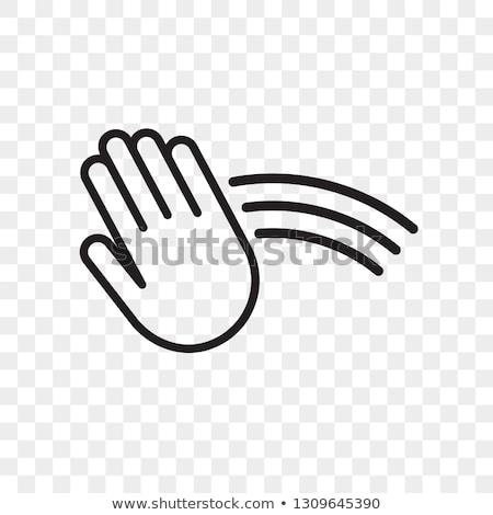 Mano sensore tecnologia illustrazione pulsante Foto d'archivio © lenm