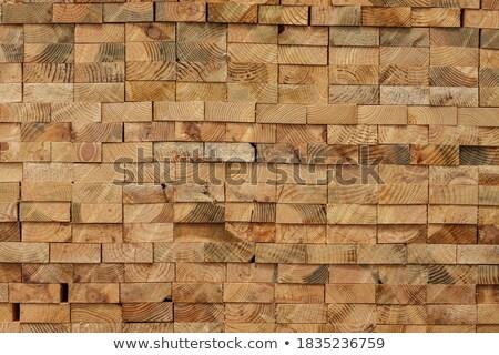 Stack of cut wood, rectangular pattern Stock photo © lichtmeister