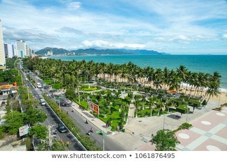 belo · ver · cidade · blue · sky · Vietnã · popular - foto stock © galitskaya