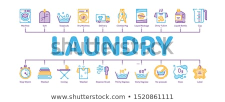 Laundry Service Minimal Infographic Banner Vector Stock photo © pikepicture