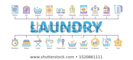 Lavandería servicio mínimo infografía banner vector Foto stock © pikepicture